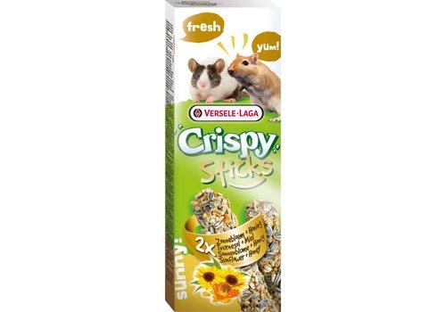 Versele-Laga Versele-Laga Crispy   Sticks gerbil&muis zonnebloem   2x55 g   Natuur
