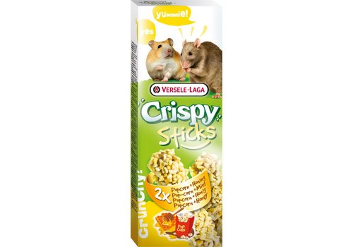 Versele-Laga Versele-Laga Crispy   Sticks hamster&rat popcorn   2x50 g   popcorn