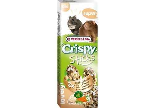 Versele-Laga Versele-Laga Crispy   Sticks hamster&rat rijst & groente   2x55 g   groenten