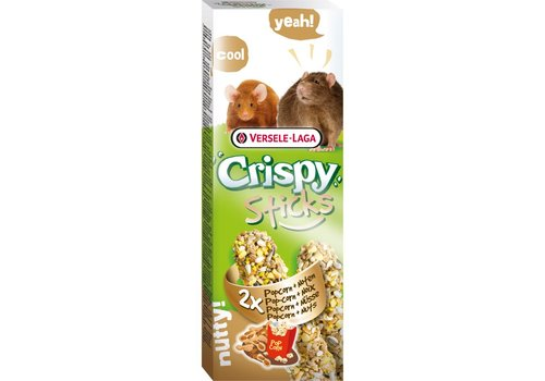 Versele-Laga Versele-Laga Crispy   Sticks rat&muis popcorn   2x55 g   Popcorn