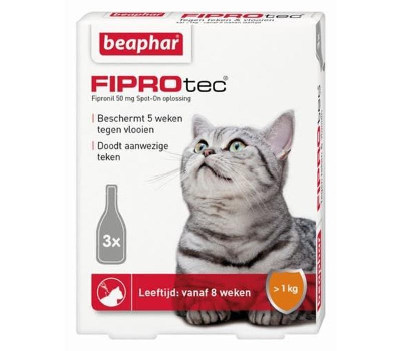 Beaphar | Fiprotec cat  >2kg | 3 pip | van 2 maanden