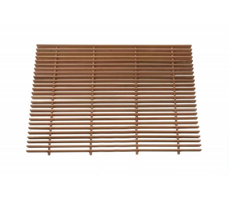 Vloerrooster hout 120 x 100cm