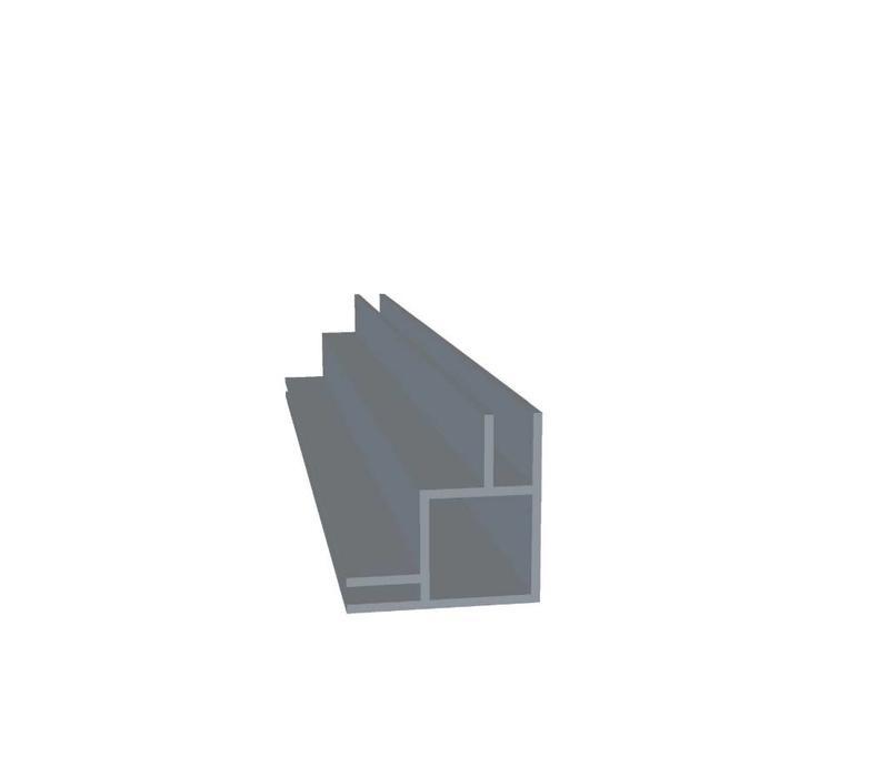 Aluminium Koker 20 x 20 x 1,5 mm | 2 flens (buitenhoek) 6,5 mm + 3 mm