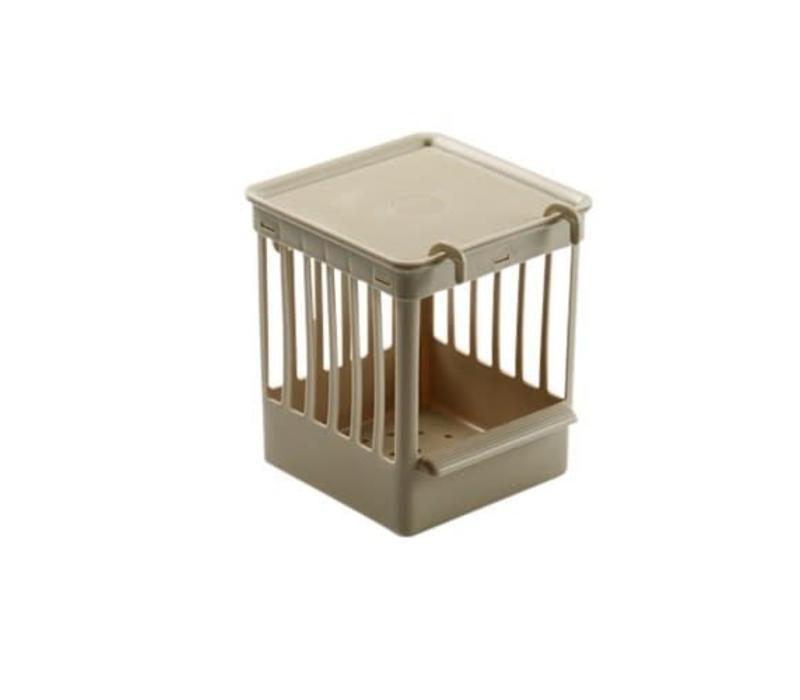 Fauna | Nestkastje plastic met tralies | 11,5x11,5x13,5 cm | beige