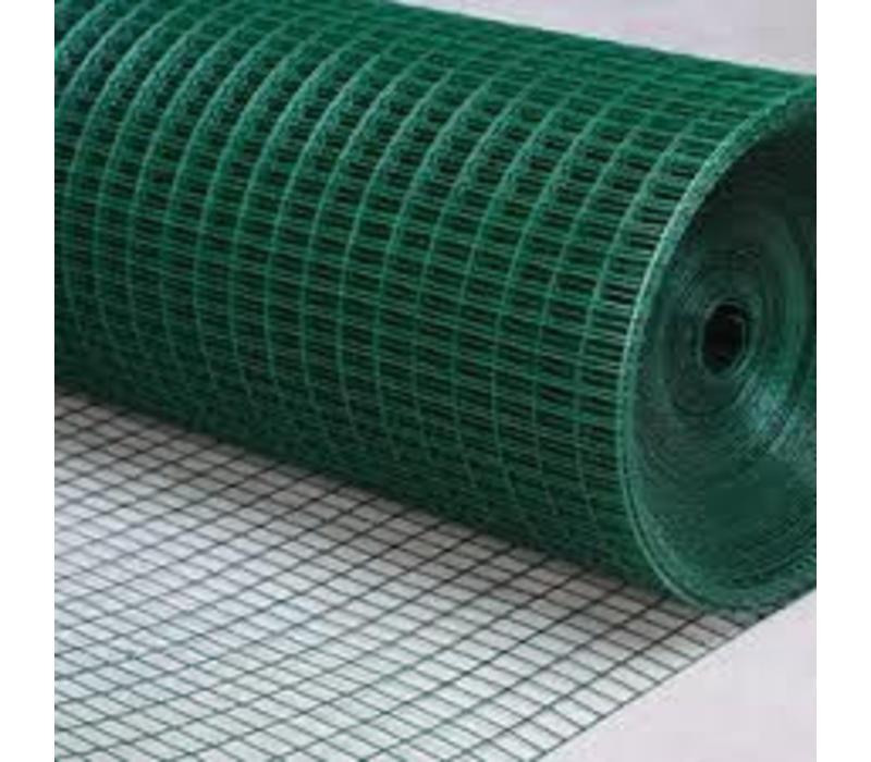 Aluka Gaas 25,4 x 25,4 x 1,75 mm Gepoedercoat gaas (Groen) 25m