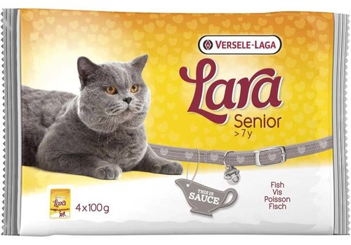 Versele-Laga Lara | Senior vis - saus | 4x100 g | Gelei | in saus