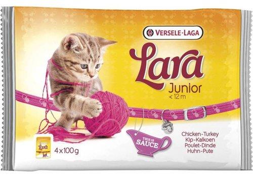 Versele-Laga Lara | Junior kip&kalkoen-saus | 4x100 g | kip | kalkoen | in saus