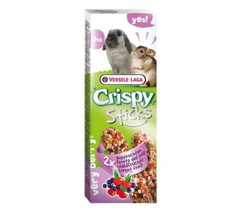 Versele-Laga Crispy | Sticks konijn bosvruchten | 2x70 g | Fruit