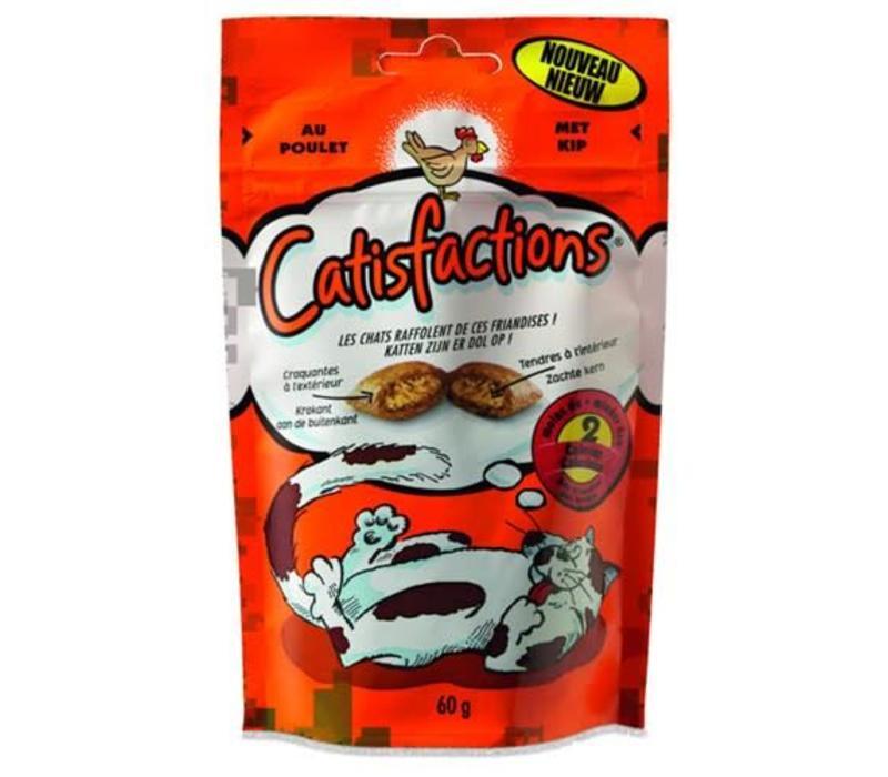 Catisfactions   Kattensnoepjes kip   60 g   kip