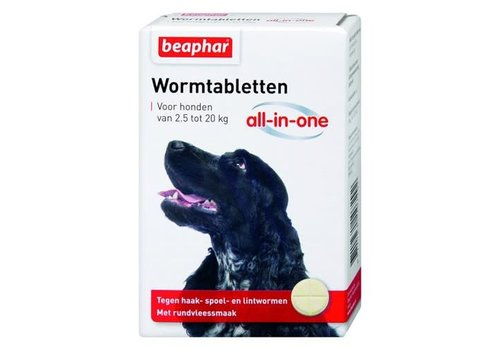Beaphar Beaphar | Wormtablet all in one hond | 2 tab | 2,5-20 kg