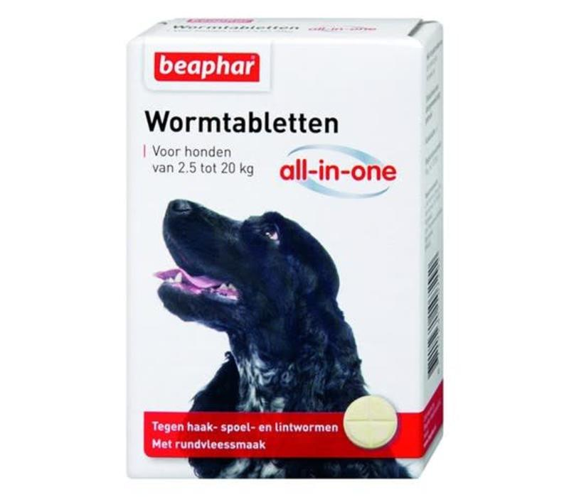 Beaphar | Wormtablet all in one hond | 2 tab | 2,5-20 kg