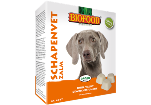 Biofood Biofood | Schapenvet zalm zonnebloemolie | zalm | vet | 40 stuks