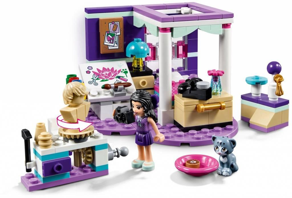 Luxe Paarse Slaapkamer : Lego friends emma s luxe slaapkamer cwjoost