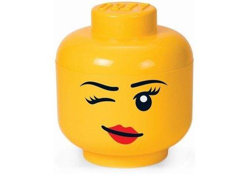 Storage box: Head Female Winking Large