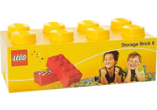 Opbergbox LEGO Brick Geel