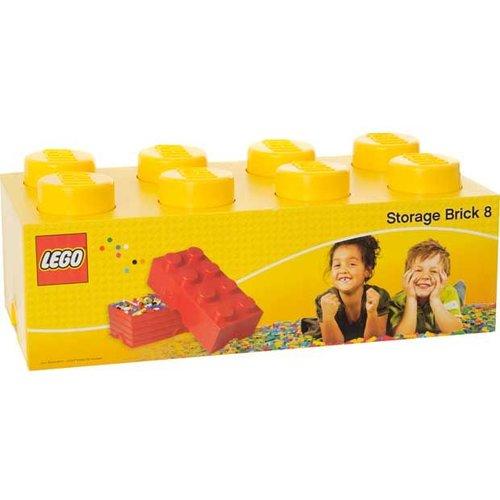 Storage Box LEGO Brick Yellow