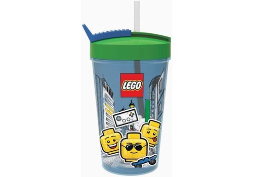 Drinking Bottle with Straw  LEGO Iconic: boy