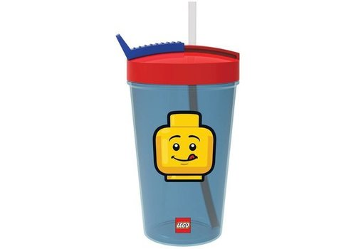 Drinking Bottle with Straw  LEGO Iconic: classic