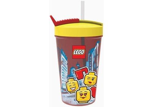 Drinkbeker met Rietje LEGO Iconic: girl
