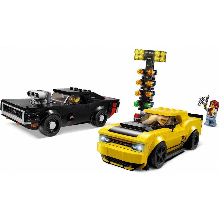 LEGO - Speed Champions - 2018 Dodge Challenger SRT Demon & 1970 Dodge Charger R/T - 75893