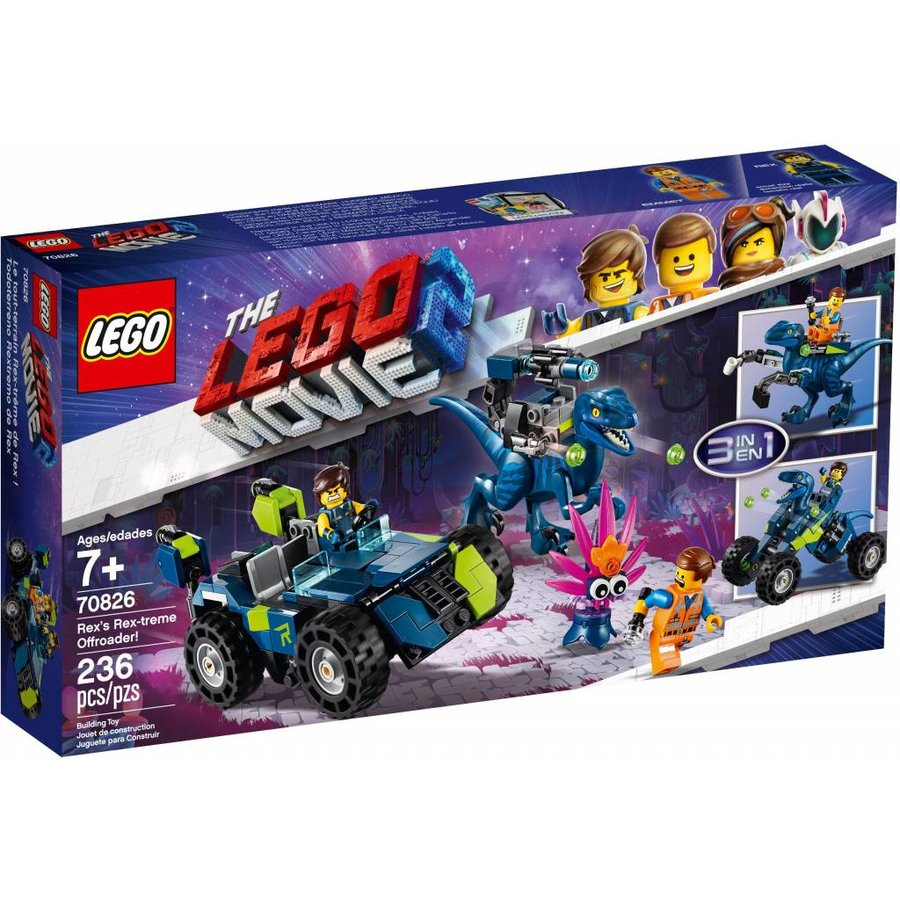 LEGO - The Movie 2 -  Rex`s Rex-treme offroader - 70826