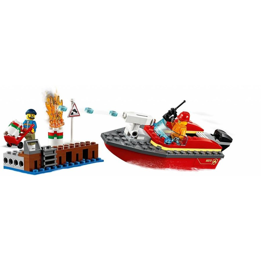 LEGO - City - Dock Side Fire - 60213