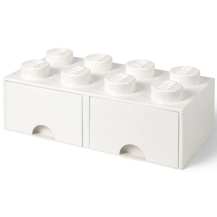 LEGO - Licensed - Storage Drawer 2x4 White