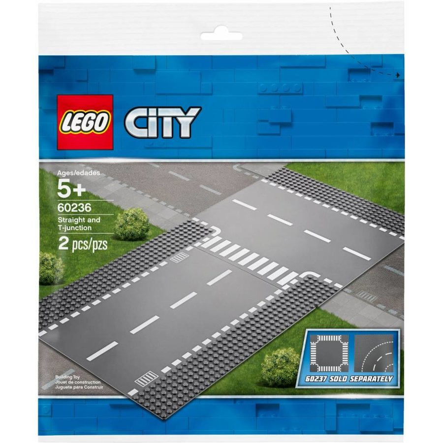 LEGO - City - Straight & T-Junction - 60236