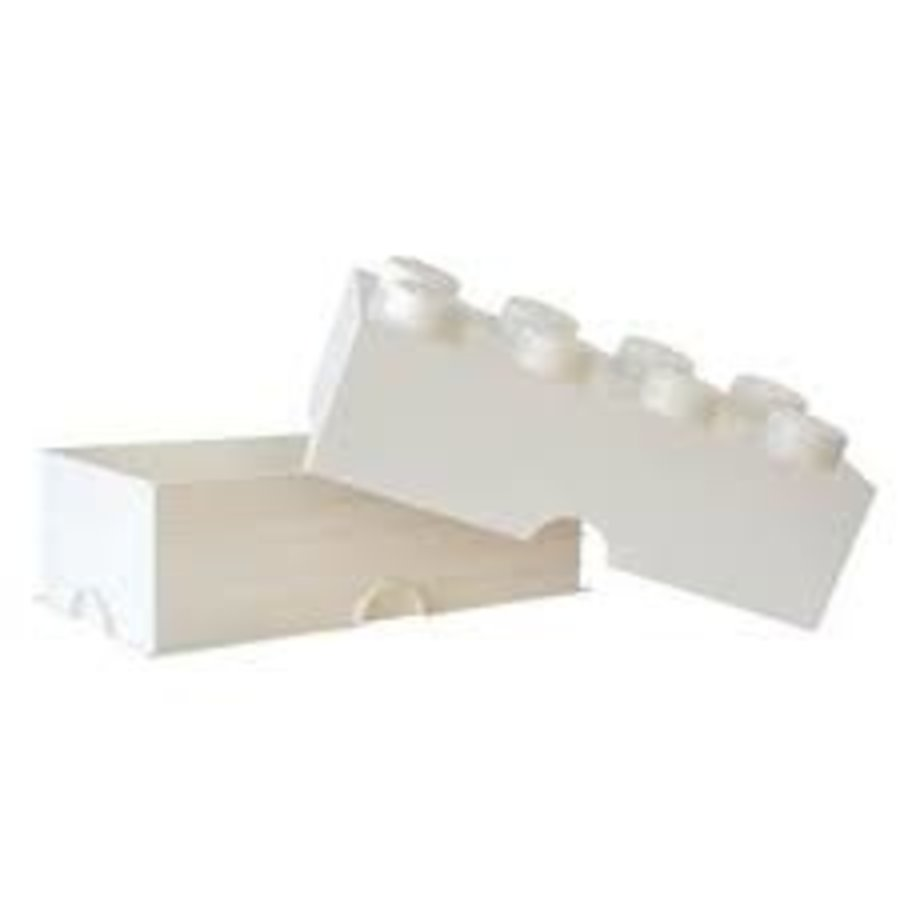 LEGO - Licensed - Storage Box LEGO Brick White