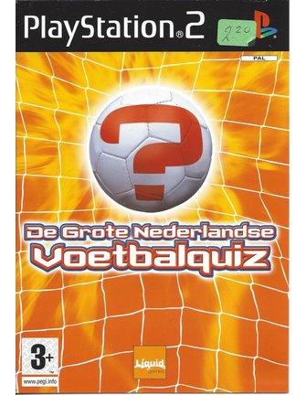 DE GROTE NEDERLANDSE VOETBALQUIZ voor Playstation 2 PS2