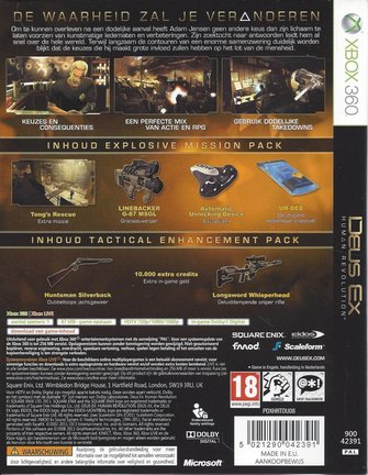 DEUS EX HUMAN REVOLUTION voor Xbox 360