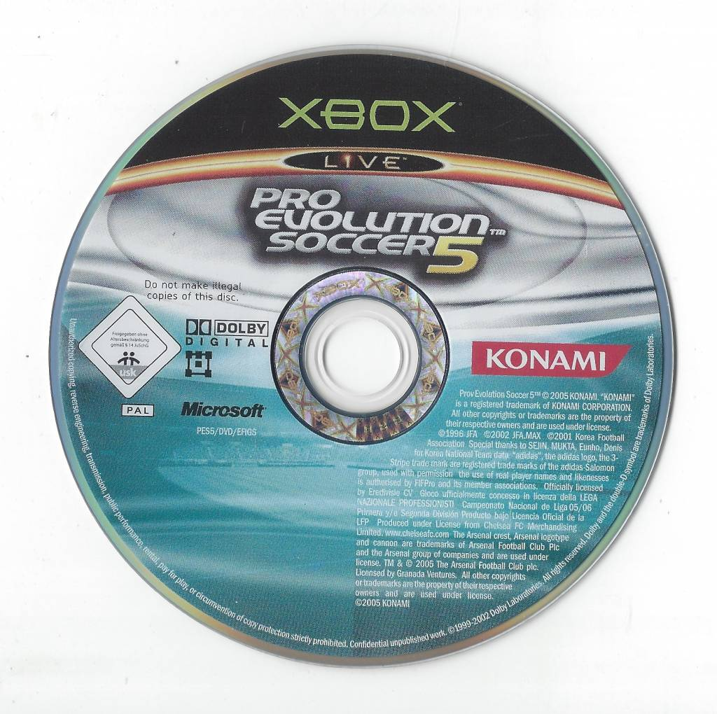 Pro Evolution Soccer 5 for Xbox - Passion for Games Webshop