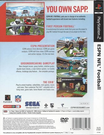 ESPN NFL FOOTBALL für Playstation 2 PS2