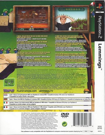LEMMINGS voor Playstation 2 PS2