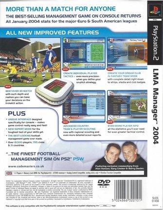 LMA MANAGER 2004 für Playstation 2 PS2