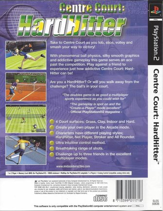CENTRE COURT HARDHITTER voor Playstation 2 PS2