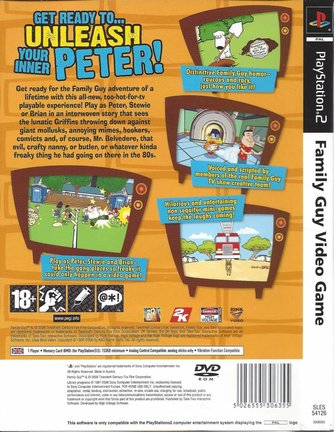 FAMILY GUY VIDEO GAME voor Playstation 2 PS2