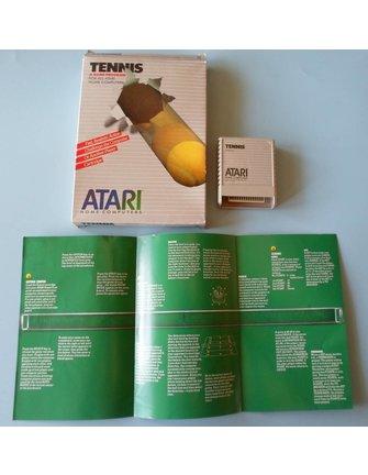 TENNIS voor Atari 400/800 / XE / XL homecomputers - met doos en handleiding