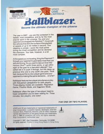 BALLBLAZER voor Atari 400/800 / XE / XL homecomputers - met doos