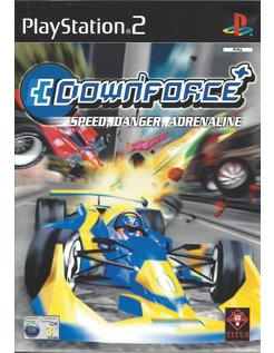 DOWNFORCE für Playstation 2 PS2 - Anleitung in Englisch und Italienisch