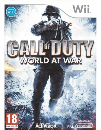CALL OF DUTY WORLD AT WAR voor Nintendo Wii