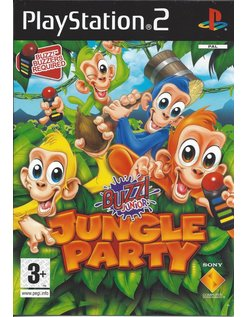 BUZZ JUNIOR JUNGLE PARTY voor Playstation 2 PS2 - handleiding in het Engels