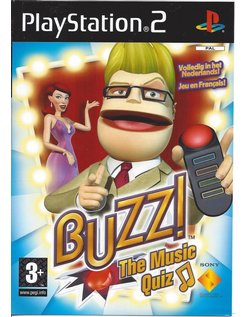 BUZZ THE MUSIC QUIZ voor Playstation 2 PS2