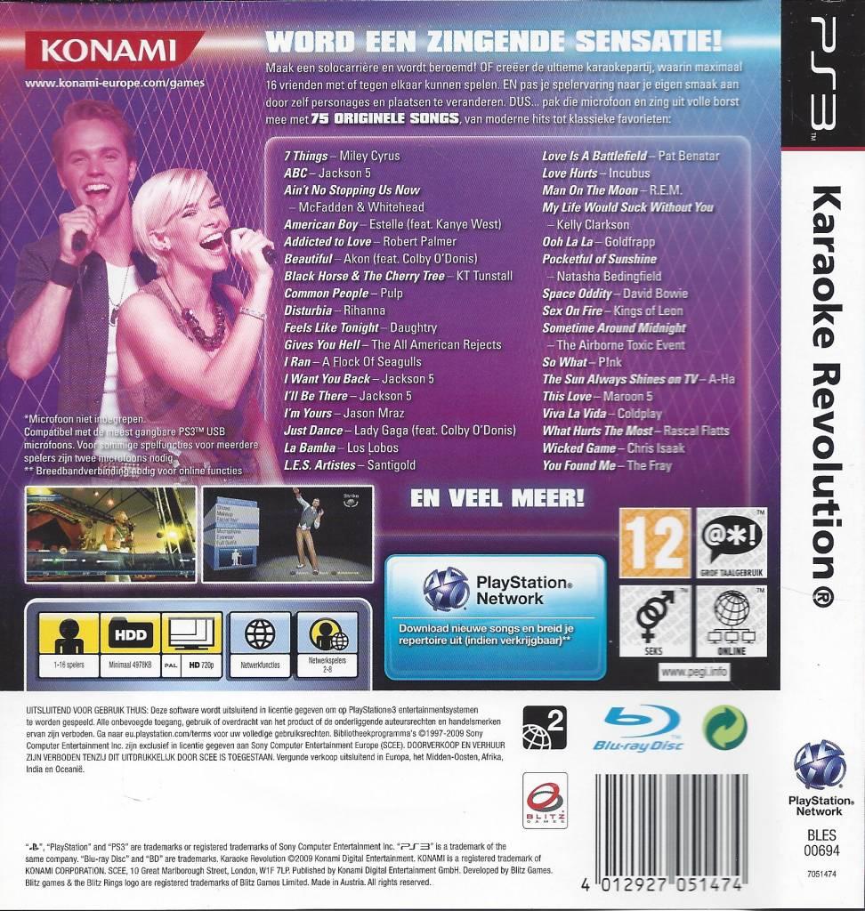 Karaoke Revolution For Playstation 3 Ps3 Passion For Games Webshop Passion For Games
