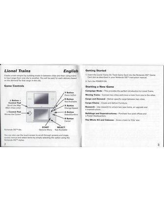 LIONEL TRAINS ON TRACK voor Nintendo DS