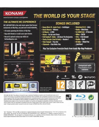 DEF JAM RAPSTAR voor Playstation 3 PS3