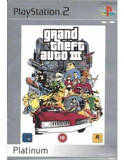 GRAND THEFT AUTO GTA III (3) für Playstation 2 - Platinum
