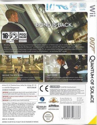 007 QUANTUM OF SOLACE voor Nintendo Wii