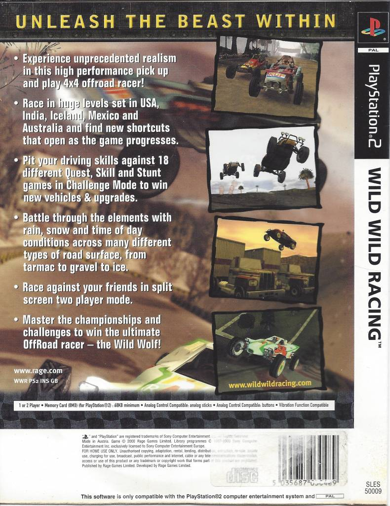 Wild Wild Racing for Playstation 2 PS2 - Passion for Games