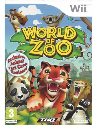 WORLD OF ZOO for Nintendo Wii - manual in English